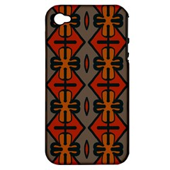 Seamless Pattern Digitally Created Tilable Abstract Apple iPhone 4/4S Hardshell Case (PC+Silicone)