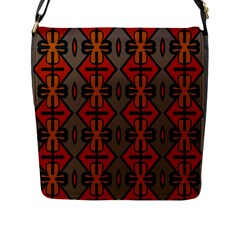Seamless Pattern Digitally Created Tilable Abstract Flap Messenger Bag (L)