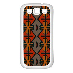 Seamless Pattern Digitally Created Tilable Abstract Samsung Galaxy S3 Back Case (White)