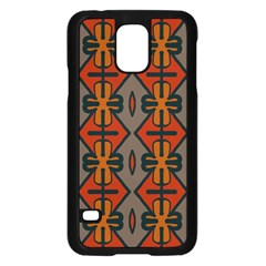 Seamless Pattern Digitally Created Tilable Abstract Samsung Galaxy S5 Case (black)