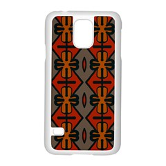 Seamless Pattern Digitally Created Tilable Abstract Samsung Galaxy S5 Case (White)