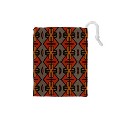 Seamless Pattern Digitally Created Tilable Abstract Drawstring Pouches (small)