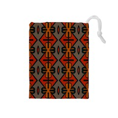 Seamless Pattern Digitally Created Tilable Abstract Drawstring Pouches (Medium)