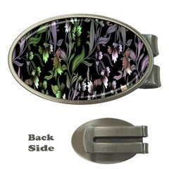 Floral Pattern Background Money Clips (Oval)