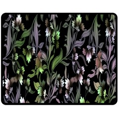 Floral Pattern Background Fleece Blanket (medium)