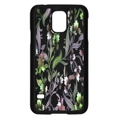 Floral Pattern Background Samsung Galaxy S5 Case (Black)