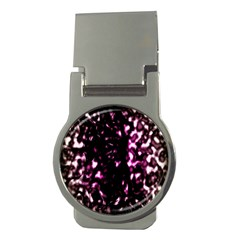 Background Structure Magenta Brown Money Clips (round)