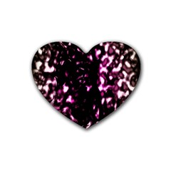 Background Structure Magenta Brown Rubber Coaster (heart)