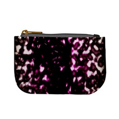 Background Structure Magenta Brown Mini Coin Purses