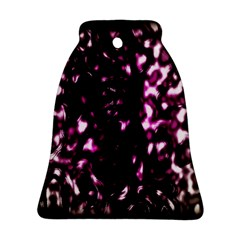Background Structure Magenta Brown Bell Ornament (two Sides)