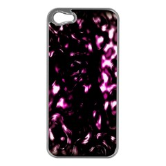 Background Structure Magenta Brown Apple iPhone 5 Case (Silver)