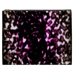 Background Structure Magenta Brown Cosmetic Bag (XXXL)