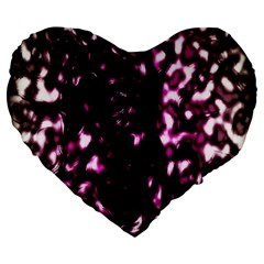 Background Structure Magenta Brown Large 19  Premium Heart Shape Cushions