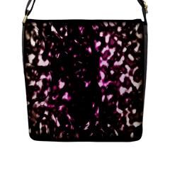 Background Structure Magenta Brown Flap Messenger Bag (L)