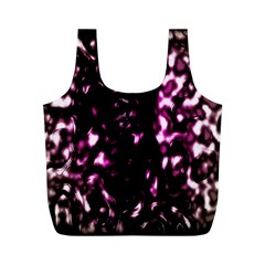 Background Structure Magenta Brown Full Print Recycle Bags (M)