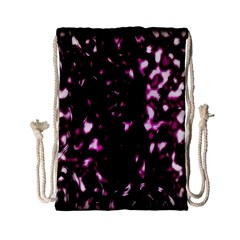 Background Structure Magenta Brown Drawstring Bag (small)