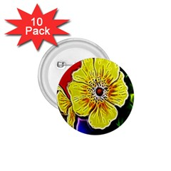 Beautiful Fractal Flower In 3d Glass Frame 1 75  Buttons (10 Pack)