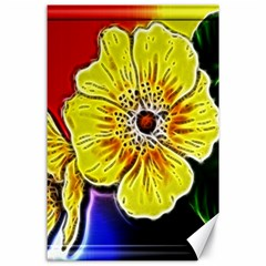 Beautiful Fractal Flower In 3d Glass Frame Canvas 24  X 36