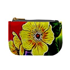 Beautiful Fractal Flower In 3d Glass Frame Mini Coin Purses