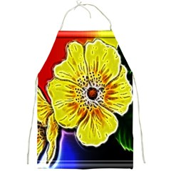 Beautiful Fractal Flower In 3d Glass Frame Full Print Aprons