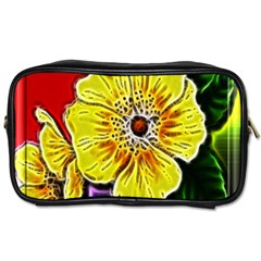 Beautiful Fractal Flower In 3d Glass Frame Toiletries Bags