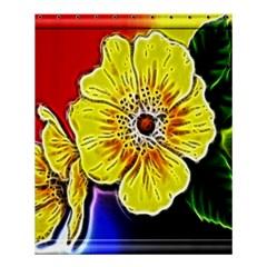 Beautiful Fractal Flower In 3d Glass Frame Shower Curtain 60  X 72  (medium)