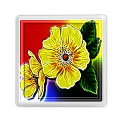 Beautiful Fractal Flower In 3d Glass Frame Memory Card Reader (square)