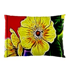 Beautiful Fractal Flower In 3d Glass Frame Pillow Case (two Sides)