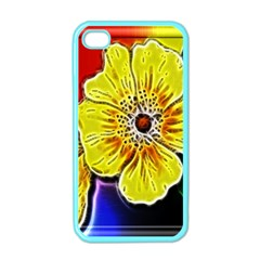 Beautiful Fractal Flower In 3d Glass Frame Apple iPhone 4 Case (Color)