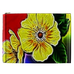 Beautiful Fractal Flower In 3d Glass Frame Cosmetic Bag (XXL)