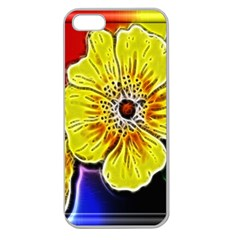 Beautiful Fractal Flower In 3d Glass Frame Apple Seamless iPhone 5 Case (Clear)