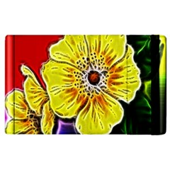 Beautiful Fractal Flower In 3d Glass Frame Apple Ipad 3/4 Flip Case
