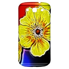 Beautiful Fractal Flower In 3d Glass Frame Samsung Galaxy S3 S III Classic Hardshell Back Case