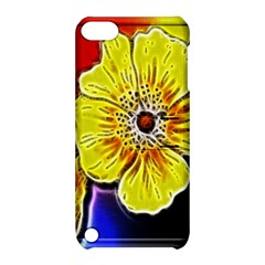 Beautiful Fractal Flower In 3d Glass Frame Apple iPod Touch 5 Hardshell Case with Stand