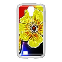 Beautiful Fractal Flower In 3d Glass Frame Samsung GALAXY S4 I9500/ I9505 Case (White)