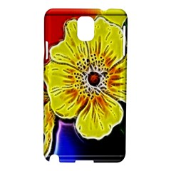 Beautiful Fractal Flower In 3d Glass Frame Samsung Galaxy Note 3 N9005 Hardshell Case