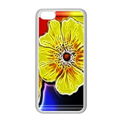 Beautiful Fractal Flower In 3d Glass Frame Apple iPhone 5C Seamless Case (White)
