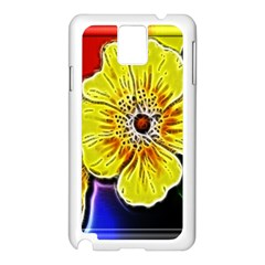 Beautiful Fractal Flower In 3d Glass Frame Samsung Galaxy Note 3 N9005 Case (white)