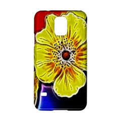 Beautiful Fractal Flower In 3d Glass Frame Samsung Galaxy S5 Hardshell Case