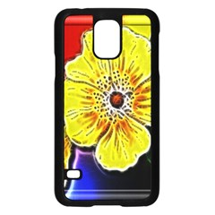 Beautiful Fractal Flower In 3d Glass Frame Samsung Galaxy S5 Case (Black)