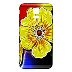 Beautiful Fractal Flower In 3d Glass Frame Samsung Galaxy S5 Back Case (White)