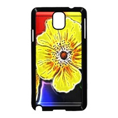 Beautiful Fractal Flower In 3d Glass Frame Samsung Galaxy Note 3 Neo Hardshell Case (Black)
