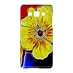 Beautiful Fractal Flower In 3d Glass Frame Samsung Galaxy A5 Hardshell Case