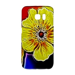 Beautiful Fractal Flower In 3d Glass Frame Galaxy S6 Edge