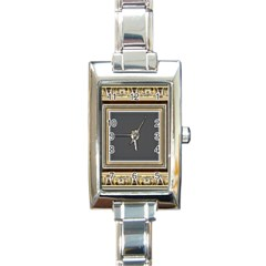 Fractal Classic Baroque Frame Rectangle Italian Charm Watch