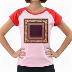 Fractal Classic Baroque Frame Women s Cap Sleeve T-Shirt