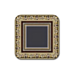 Fractal Classic Baroque Frame Rubber Coaster (Square)
