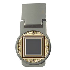 Fractal Classic Baroque Frame Money Clips (Round)