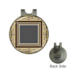 Fractal Classic Baroque Frame Hat Clips With Golf Markers