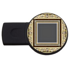 Fractal Classic Baroque Frame USB Flash Drive Round (4 GB)